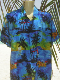 blue hawaiian shirt rima