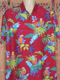 red foral hawaiian shirts