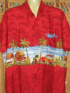 red caribbean shirt