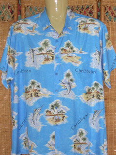 blue hawaiian rima shirt