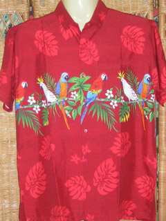 red rima hawaiian shirt